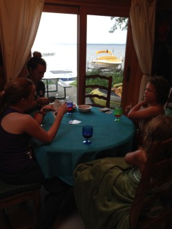 Cards at the Lake